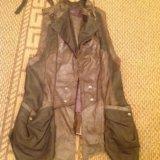 Кожаный жилет. Фото 1.