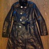 Кожаный плащ,пальто. Фото 2.