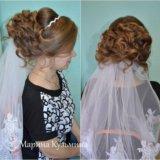 Прически свадебные, вечерние. макияж. плетение кос. Фото 2.