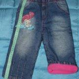 Джинсы утепленные 80-86 gloria jeans. Фото 1.