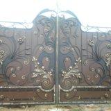 Ворота кованные. Фото 1.
