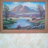 Картина из цветного песка. Фото 1.