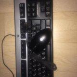Клавиатура и мышка hp. Фото 2.