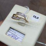 Кольцо фианит золото 585. Фото 2.