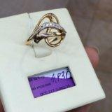 Кольцо золото 585 фианиты. Фото 2. Красноярск.