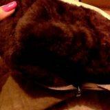 Замшевые сапожки. мех натуральный. Фото 4.