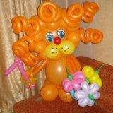 Львенок из воздушных шаров. Фото 1. Омск.