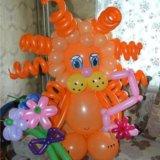 Львенок из воздушных шаров. Фото 2. Омск.