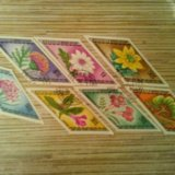 Марки монголии 1975 цветы. Фото 1.
