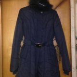 Пальто демисезонное темно синее. Фото 3.