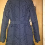 Пальто демисезонное темно синее. Фото 1.