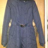 Пальто демисезонное темно синее. Фото 4.