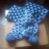 Шапка, шарф, не комплект. Фото 1.