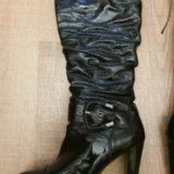 Демисезонные женские сапоги. Фото 1.