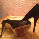 Туфли замшевые черные. Фото 2.