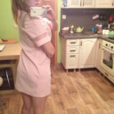 Нежное платье зефирка с жемчужинками. Фото 3.