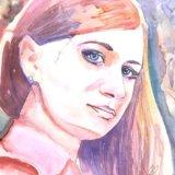 Акварель портрет. Фото 1. Котельники.