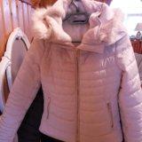 Куртка бежевая размер 40-42. Фото 1.