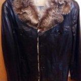 Зимняя кожаная куртка мужская. Фото 3. Москва.