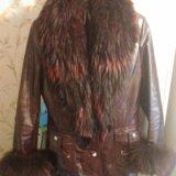 Куртка зима натуральная кожа лак. Фото 2. Москва.