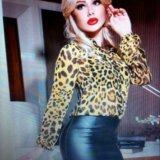 Стильная леопардовая рубашка. Фото 1.