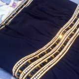 Платье в пол вечернее ( шифон). тёмно- синее. Фото 2.