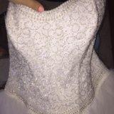 Новые!!!свадебное платье+туфли+подвязка!52 р-р. Фото 2. Москва.