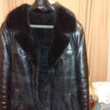 Куртка кожанная мужская зимняя. Фото 3.