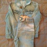 Джинсовый детский костюм,на рост 86. Фото 1.