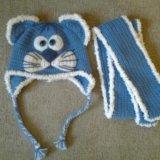 Шапочка и шарф новые. Фото 1. Кипень.