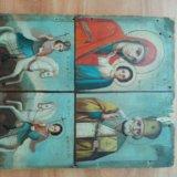 Икона 19 век казанская , николай, георгий, дмитрий. Фото 1.