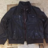 Куртка кожаная (темно коричневая). Фото 1.