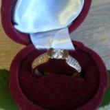 Колечко с бриллиантами центральный камень 4 ,3 мм. Фото 1.