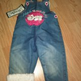 Комбинезон джинсовый с мехом внутри. турция. Фото 1.