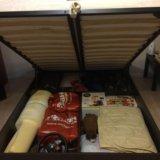 Кровать с подъёмным механизмом и ортопед.матрасом. Фото 1.