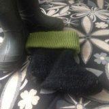 Резиновые сапожки с тёплыми носками. Фото 3.