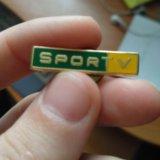 Значок  sport tv бразильского телевидения. Фото 1. Санкт-Петербург.