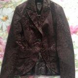 Пиджак коричневый 44р. Фото 1.