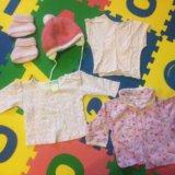 Одежда для девочки 0-6 мес более 60 вещей в коробе. Фото 1.