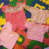 Одежда для девочки 0-6 мес более 60 вещей в коробе. Фото 2.