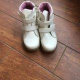 Ботинки на позднюю осень, утеплённые размер 30. Фото 1.