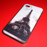 Пластиковый чехол paris на iphone 4/4s. Фото 1.