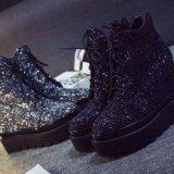 Ботинки черные. Фото 1. Тольятти.