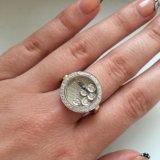 Новое золотое кольцо с брил. chopard 0.9 ct, 585. Фото 1. Москва.