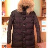 Куртка пальто пуховик, раз м. 46 рост 170 - 176. Фото 4.