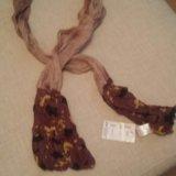 Шелковый шарфик,длина 2 метра, новый. Фото 3.
