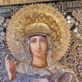Икона 1874 года княгиня ольга 34,9 х 27,9 оклад. Фото 1.