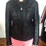 Куртка mango 44 р-р (кожа). Фото 1.