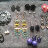 Серьги фирм diva, accessories, h&m. Фото 1.