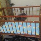 Детская кроватка с матрасом. Фото 1. Тула.